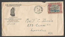 DATED 1929 COVER LA CA THE PRAETORIANS HOTEL W/C11 AIRMAIL ROUGHLY  SEE INFO