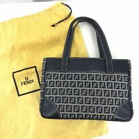 Authentic Fendi Zucca Mama Bag Vintage Small Canvas Tote Made in Italy