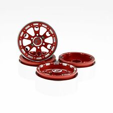 "GDS Racing Four 1.9"" Red Alloy Beadlock Wheel Rim Wide 1"" for RC Model #094RD"