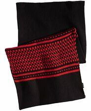 NEW $174 Armani Exchange Men Black Red Knit Wool Blend Warm Winter Muffler Scarf