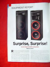 "Cerwin-Vega CLS-215 loudspeaker review ""Absolute Sound"" magazine 3/2009"