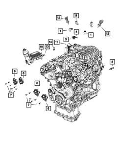 Genuine Mopar Crankshaft Position Sensor 5149167AF