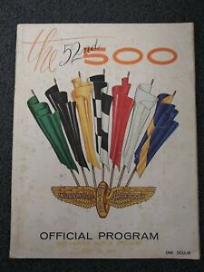Bobby Unser - 1968 Indy Indianapolis 500 Program - IndyCar - Auto Racing - USAC