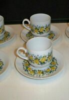 VINTAGE WINTERLING DEMITASSE 3 CUPS AND 6 SAUCERS SCHWARZENBACH BAVARIA GERMANY