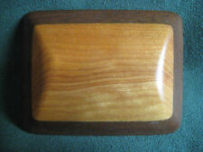 hand crafted WOOD Belt BUCKLE artisan two-tone OOAK craft RWS