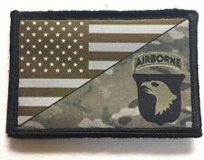 101st Screaming Eagles Multicam US Flag Morale Patch Tactical Military Army USA