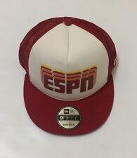 Disney Parks New Era Espn Adult Adjustable Baseball A Frame Snapback Hat Cap Red