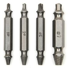 ACENIX® New 4 Pcs Screw Speed Out Extractor Drill Bits Guide Set Screw Removal