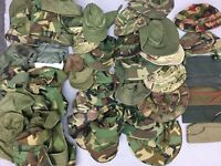 HUGE LOT 41 Military Army Hats Caps Boonie Garrison Aviator Liner Patrol Used