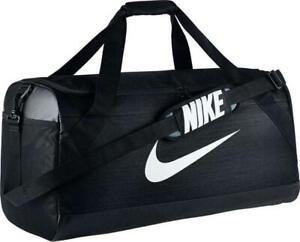 Nike Brasilia Training Duffel Bag Large NEW AUTHENTIC Black/White BA5333-010
