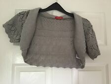 Silver sparkly crochet cardigan shrug medium
