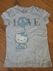 Old Navy Girls Gray Hello Kitty T-shirt Size Small