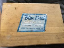 "Vintage Blue Point By Snap On Tap And Die Set 2400  1/4 to 1/2""  in Wood Box"