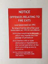 Fire Exit Sign Offences Relating To Fire Exits