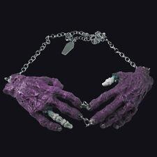 Kreepsville666 Purple Zombie hands Necklace. Decaying hands. Horror/ Gore.
