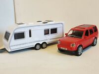 NEW BOYS TOYS 4X4 RED CAR & CARAVAN PLAY SET BOXED PERSONALISED CHRISTMAS GIFT