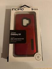 Incipio DualPro Case for Samsung Galaxy S9-Red/Black