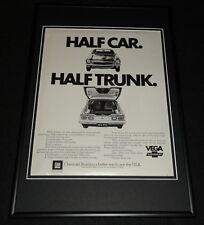 1972 Chevrolet Vega Framed 12x18 ORIGINAL Advertisement Half Car Half Trunk