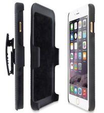 Black Armor Defender Case With Belt Clip Matte Hard Cover for iPhone X 6s 7 SE