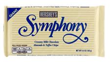 New listing 6 Hersey Symphony w/Almonds &Toffee Milk Chocolate Giant Size 6.8 oz Lot of 6