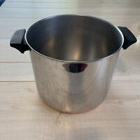 Vintage Revere Ware 8 Qt. Stock Pot Stainless Steel Copper Bottom NO LID 1801