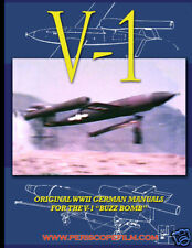 GERMAN V-1 BUZZ BOMB TERROR WEAPON MISSILE Manual BOOK