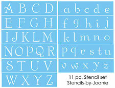 """French Chic Alphabet STENCIL Shabby font 2"""" CAPS & LC letters Country Art Signs"""