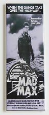 Mad Max FRIDGE MAGNET (1.5 x 4.5 inches) insert movie poster mel gibson miller