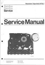 Philips Original Service Manual für Laufwerk Tape-Deck RTS-1
