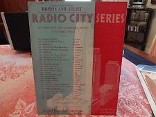 1939 Romeo and Juliet Radio City Series NYC New York City Sheet Music
