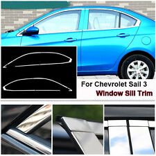 Full Window Frame Molding Trim Cover Stainless Steel For Chevrolet sail 3 15-16