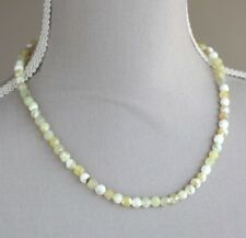 SHADED YELLOW AGATE NECKLACE & BRACELET SET NECKLACE LENGTH 19""