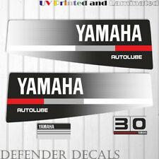 Yamaha 30 HP AUTOLUBE outboard engine decal sticker Set Kit reproduction 30HP