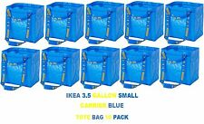 NEW IKEA 10 PACK BRATTBY SMALL 3.5 GALLON BLUE SHOPPING TOTE BAGS FREE SHIPPING