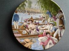 ROYAL WORCESTER HENLEY ROYAL REGATTA PLATE AN EDWARDIAN SUMMER EDWARD MORTELMANS