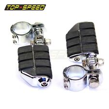 """Chrome Front Foot pegs Footrest For Harley 1 1/2"""" Highway Engine Crash Bar New"""