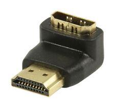 Glaxio ® adaptador de HDMI conector HDMI Ángulo de 90 ° para entrada HDMI (Negro)