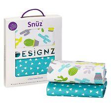 Snuz Baby Nursery Sleeping SnuzPod Crib Fitted Sheet - Twin Pack - Rootin Tootin