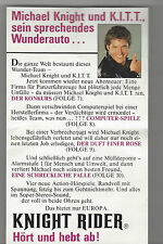 Enfants cassettes supplément-Flyer Knight Rider David Hasselhoff-KITT-RARE