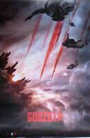 Godzilla 2014 -Skydivers- Poster-Laminated available-90cm x 60cm-Brand New