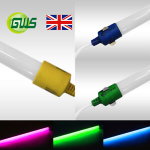 LED T8 Tube Lights 2FT 4FT 5FT Red Green Blue Colour Lights Replace Fluorescents