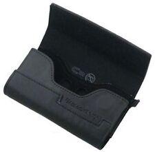 Genuine Blackberry Black Leather Horizontal Wallet Folio Pouch - Factory Soiled