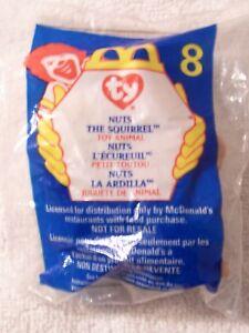 1999 McDonalds TY TEENIE BEANIE BABY #8 Nuts The Squirrel