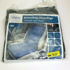 Grey Obbo med Sh-4170 12V 45W Deluxe Heated Seat Cushion Cover W/ Lumbar Support