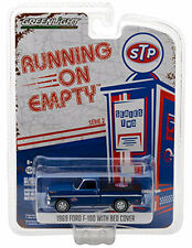 Greenlight 1969 Ford F-100 Pick Up Truck with Bed Cover STP 1:64 Blue 41020-C