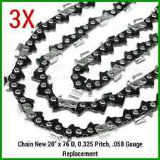 "3X Chainsaw Chains 325 058 76DL for Baumr-Ag SX62 for 20"" bar QUALITY PREMIUM"