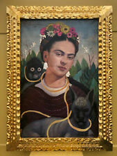 FRIDA KAHLO MEXICAN ARTIST OIL PAINTING ON CANVAS SIGNED & FRAMED