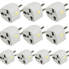 10xUniversal Travel Adapter US, 2 Pin Plug Adapter to Universal Outlet Converter