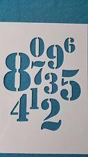 802 Pochoirs 1 - 0 Stencil chiffre emboutissage Flex-gabarit Shabby A-Z