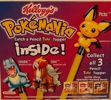 SET 3 POKEMON Pencil Topper figure toy pop-tart PICHU TOTODILE ENTEI poptarts